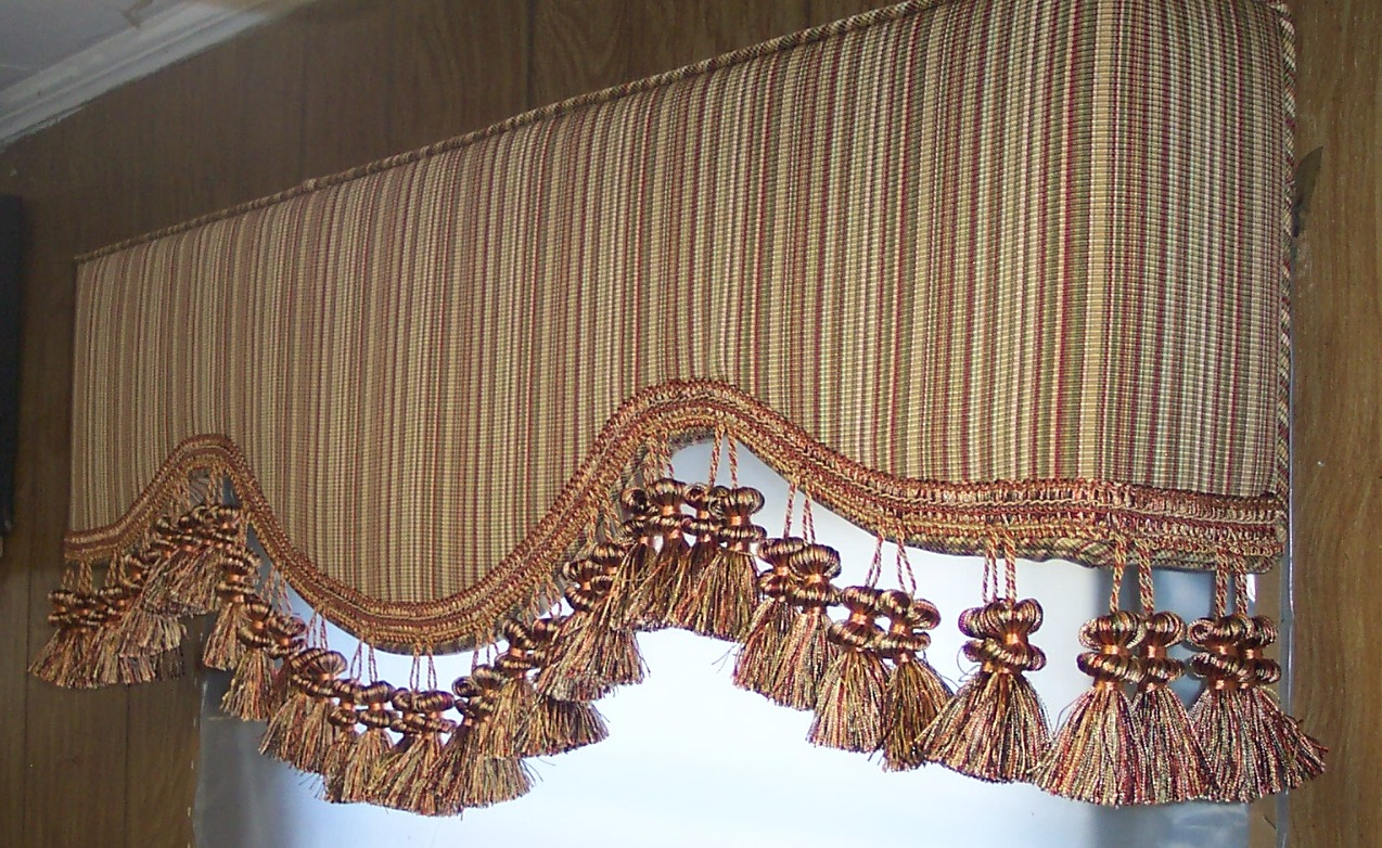 Carmel upholstered cornice boards