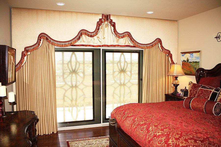 Carmel upholstered cornice boards in IN